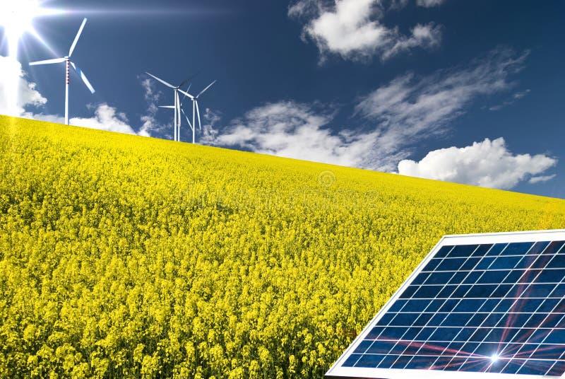 Énergie renouvelable et développement durable image stock