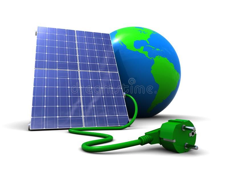 Énergie solaire illustration de vecteur