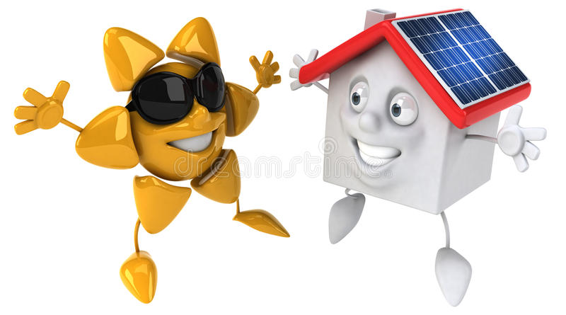 Énergie solaire illustration stock