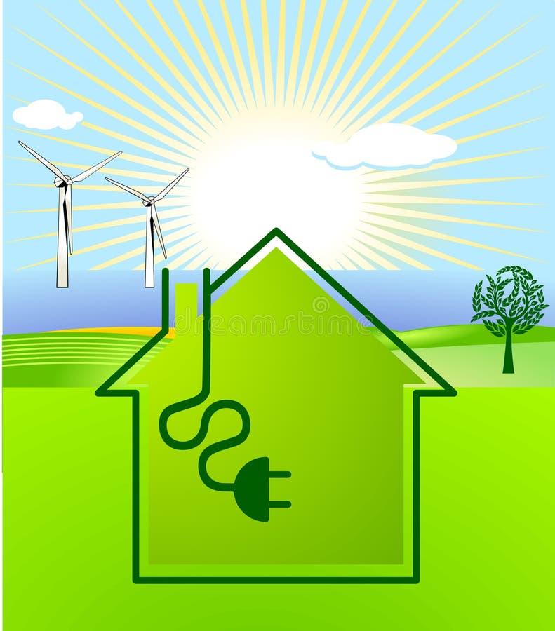énergie Vent-solaire illustration libre de droits