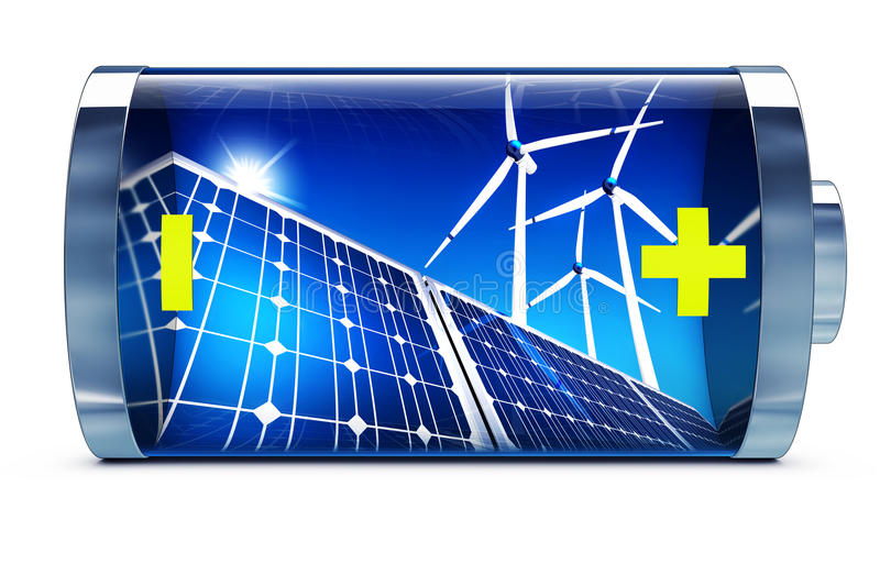 Énergie verte illustration libre de droits