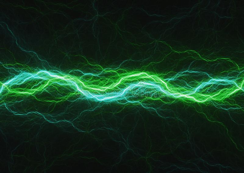 Énergie verte, fond de puissance de plasma illustration de vecteur