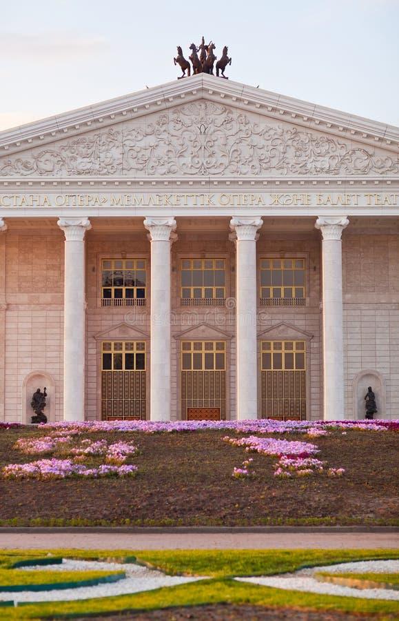 Énoncez l'opéra d'Astana de théâtre d'opéra et de ballet à Astana kazakhstan photographie stock