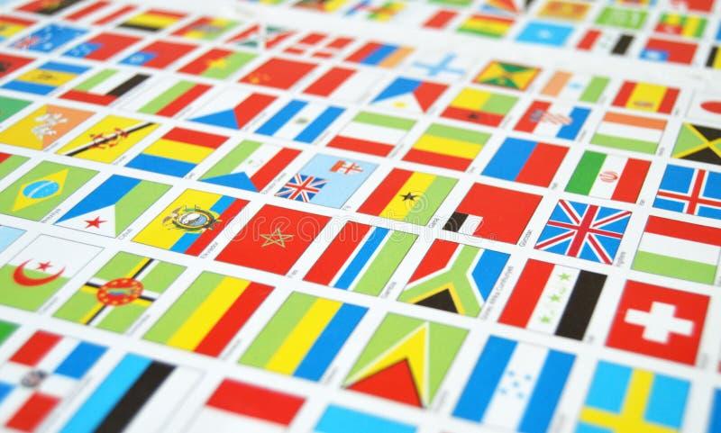 Énoncez les drapeaux, monde, drapeaux d'état, monde photos libres de droits