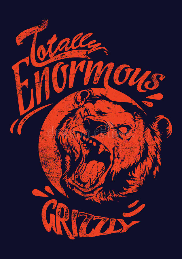 Énorme ours gris illustration stock