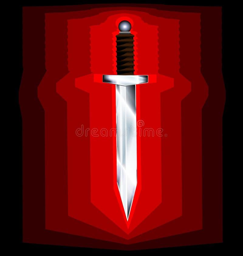 Épée abstraite illustration de vecteur