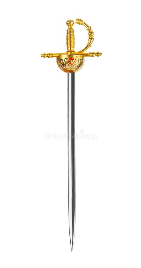Épée d'or photo stock