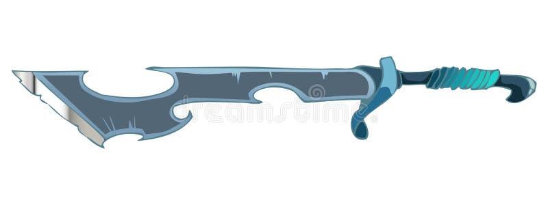 Épée de bande dessinée, illustration de vecteur illustration libre de droits