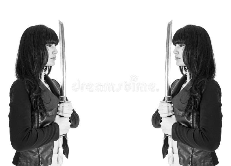 Épée de femme photos libres de droits