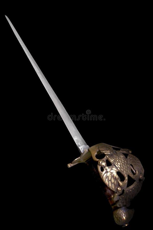 épée de Russe de rapière d'officier de cuirassier images stock