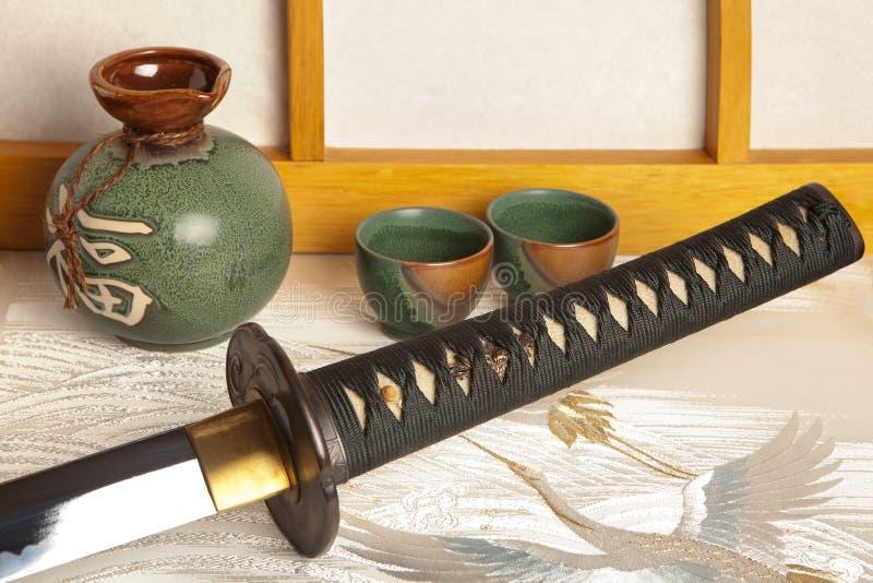 Épée japonaise images libres de droits