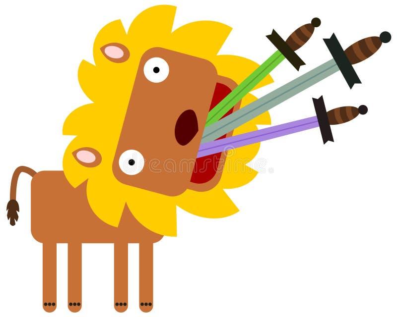 Épée mangeant le lion illustration de vecteur