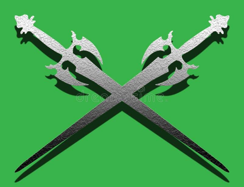 Épées antiques illustration stock