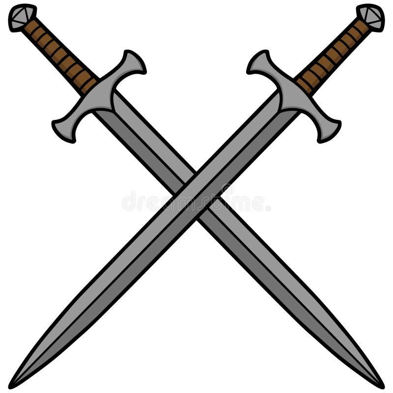 Épées croisées illustration libre de droits