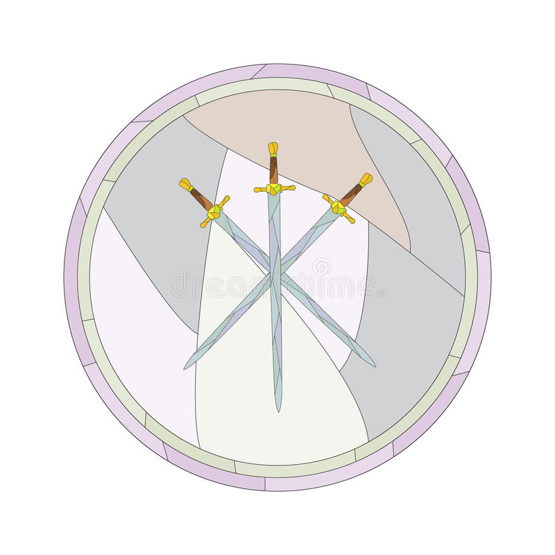 Épées croisées image stock
