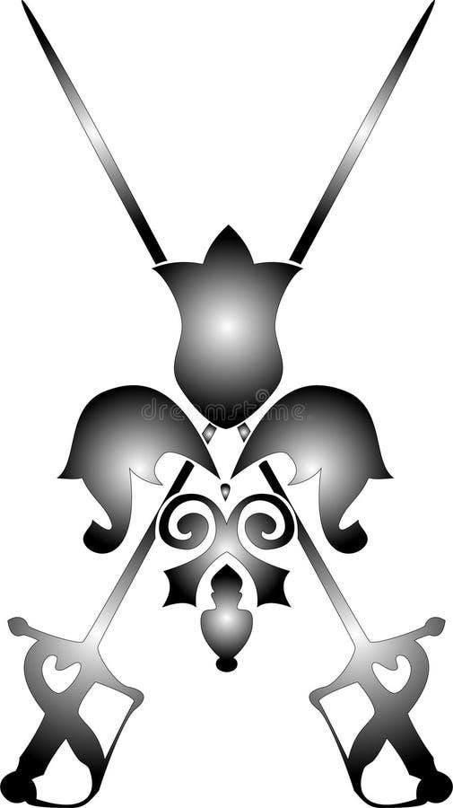 Épées de vecteur illustration libre de droits