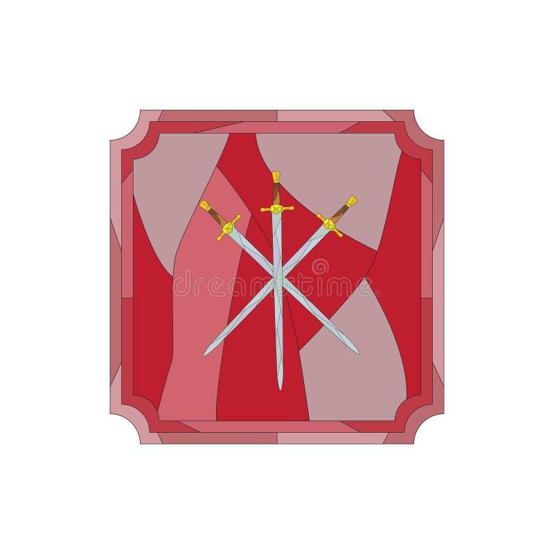 Épées en verre souillé images stock