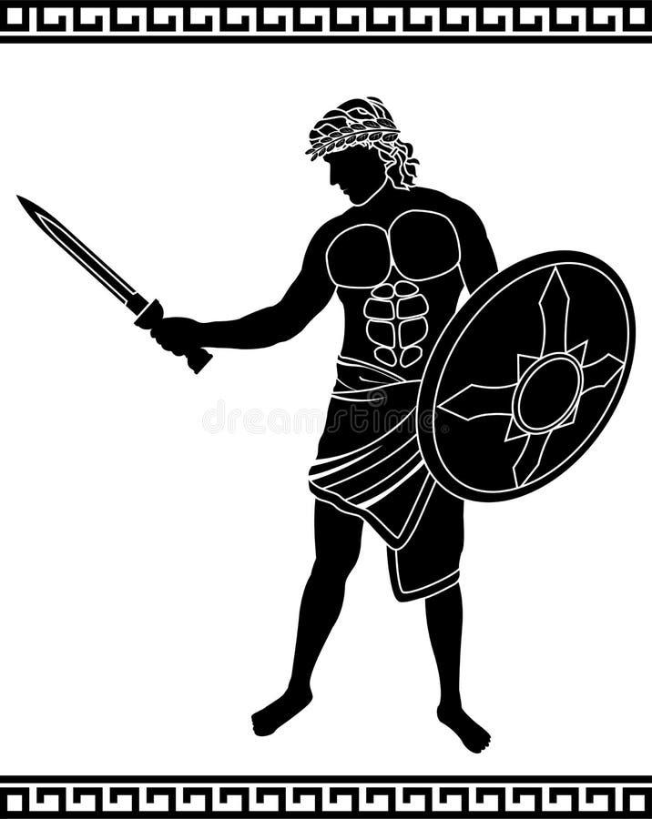 Épéiste antique illustration de vecteur