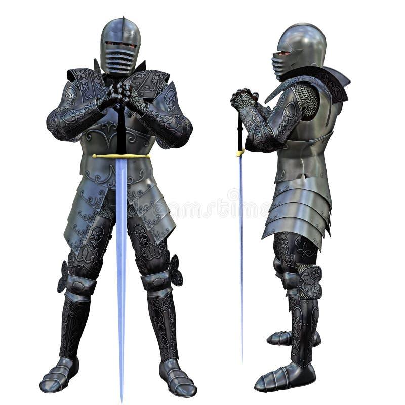 Épéiste de chevalier illustration de vecteur