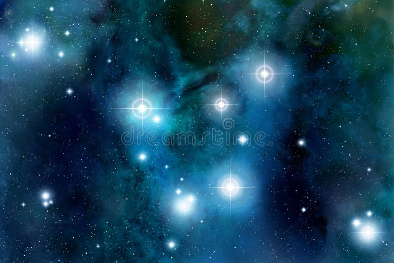 Épanouissement d'étoiles de l'espace illustration de vecteur