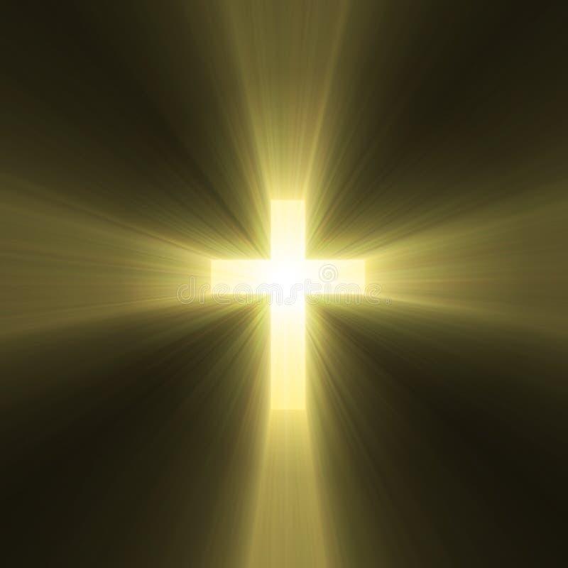 Épanouissement en travers saint de lumière du soleil illustration libre de droits
