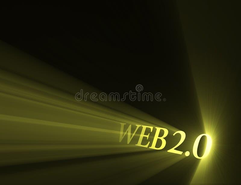 Épanouissement léger de version du Web 2.0 illustration stock