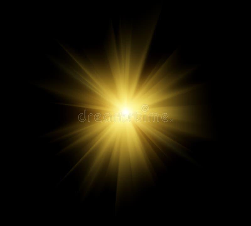 Épanouissement lumineux du soleil illustration stock