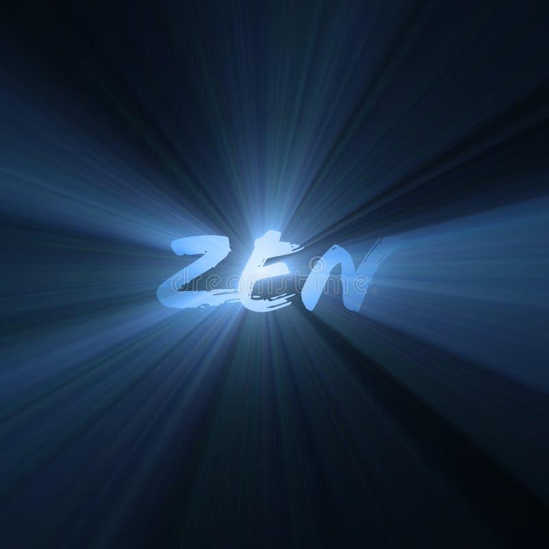 Épanouissements bleus de lumière de lettres de zen illustration libre de droits