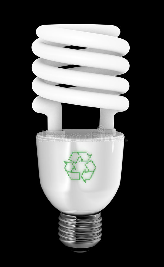 épargnant d'énergie images stock