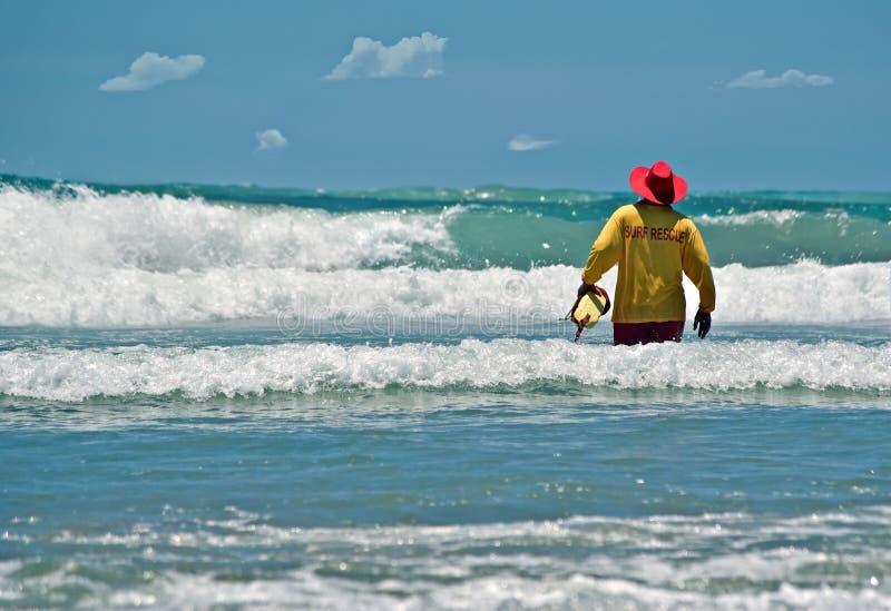 Épargnant de durée à la plage image libre de droits