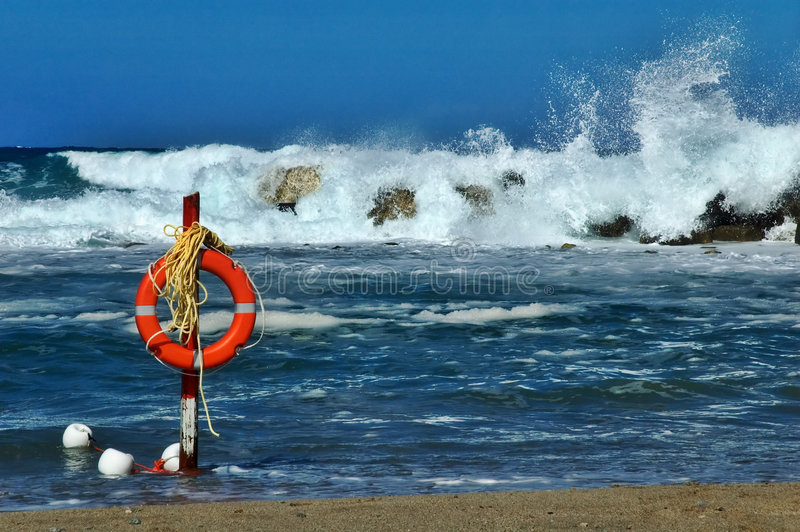 Épargnant de durée de plage image stock