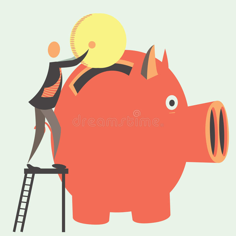 Épargne illustration stock