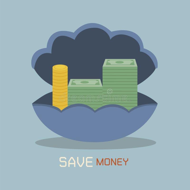Épargnez l'argent illustration libre de droits