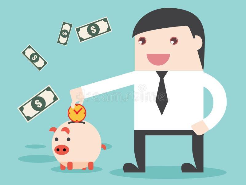 Épargnez l'heure de gagner l'argent être accomplissement photo libre de droits