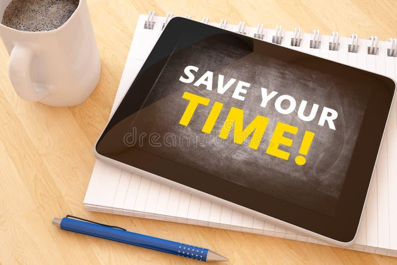 Épargnez votre temps illustration stock