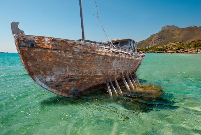 Épave de bateau photographie stock