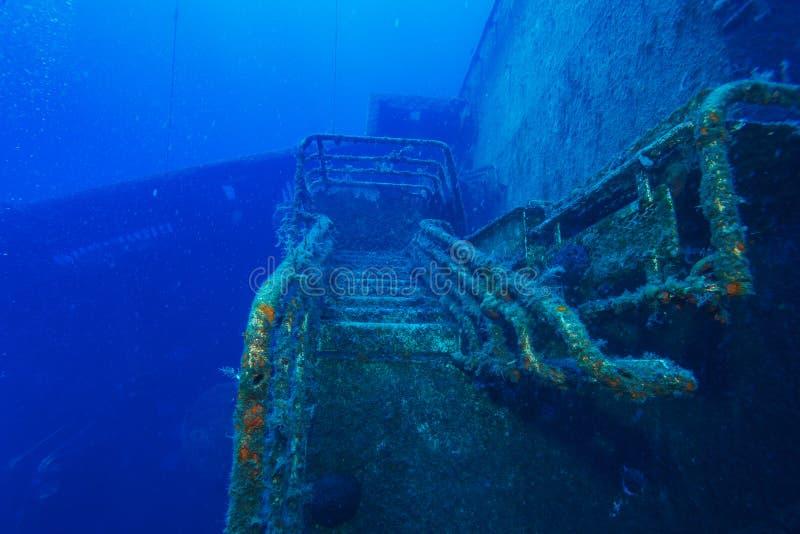 Épave de bateau de Zenobia près de Paphos, Chypre image libre de droits