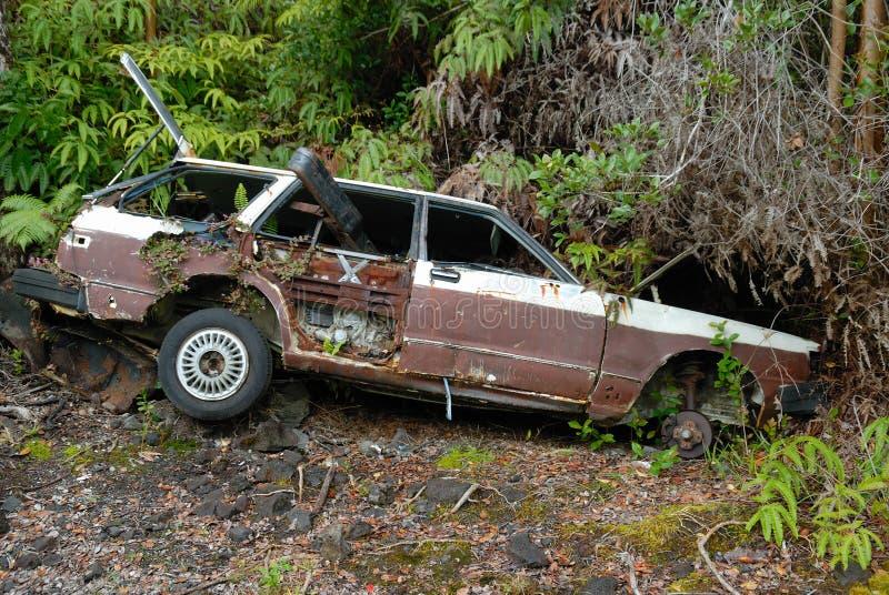 Épave de voiture photographie stock libre de droits