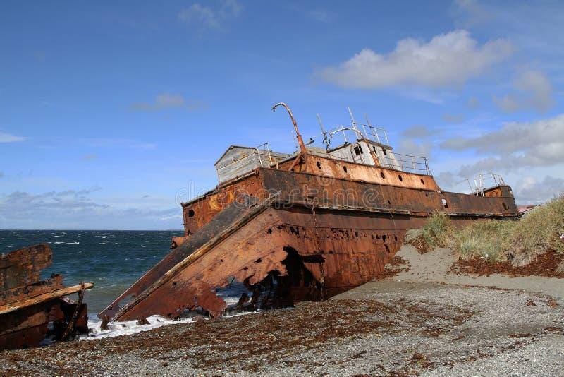 Épave près de Punta Arenas photos libres de droits