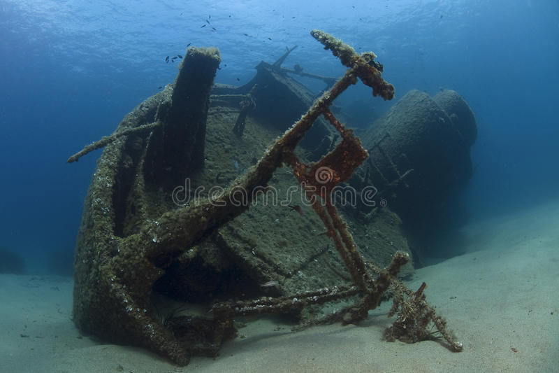 Épave sous-marine photo stock