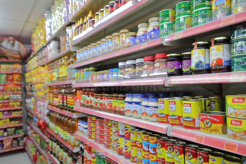 Épicerie asiatique Kuala Lumpur Malaysia image libre de droits