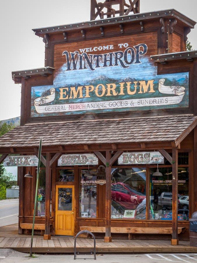 Épicerie générale de Winthrop photo libre de droits