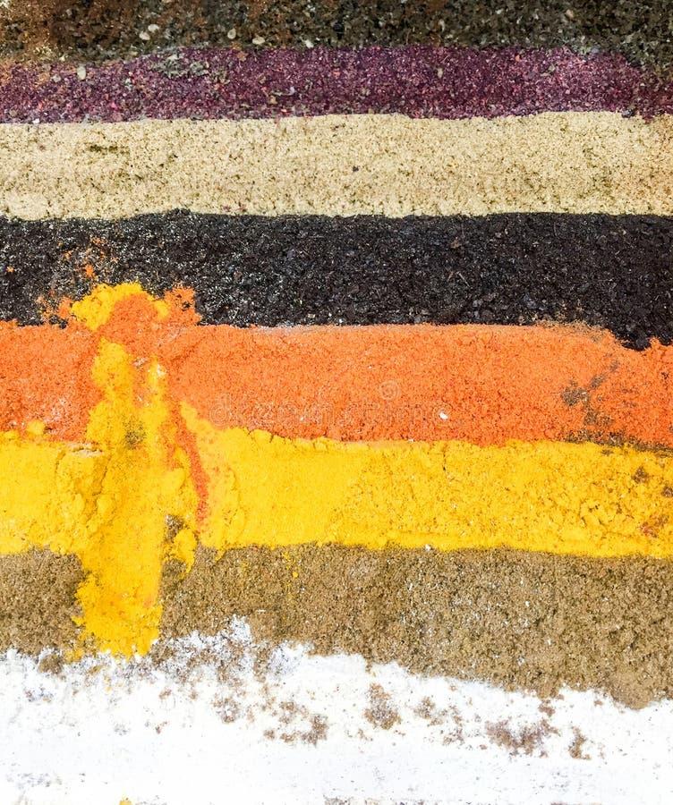 épices colorées de lignes photo libre de droits