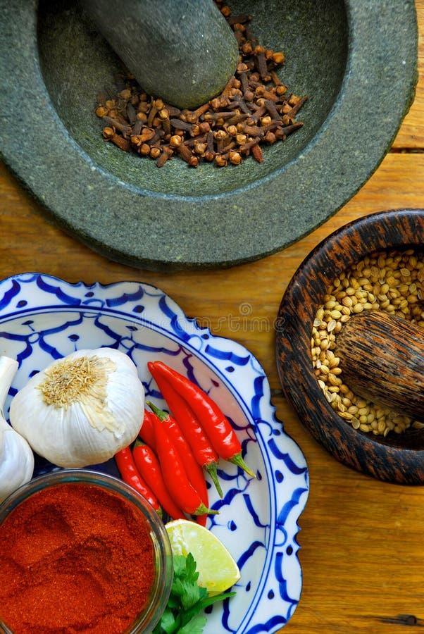 Épices et ingrédients photos stock