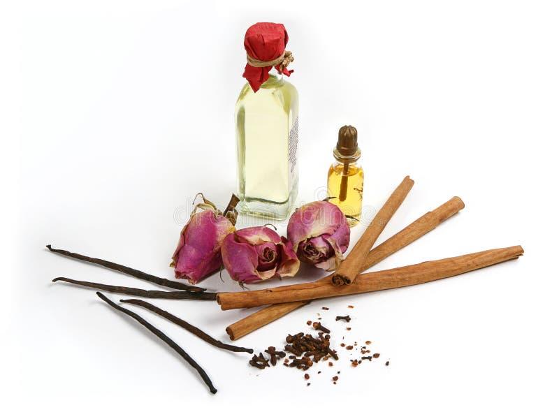 Épices pour le pétrole d'arome photographie stock