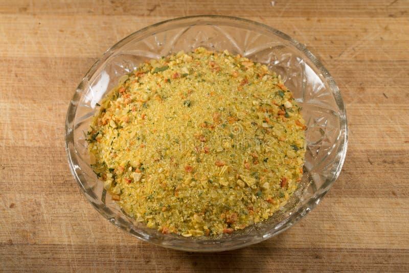 Épices Vegeta en verre photo stock
