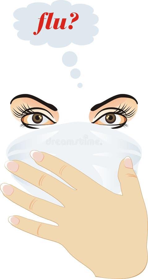 Épidémie de la grippe illustration stock