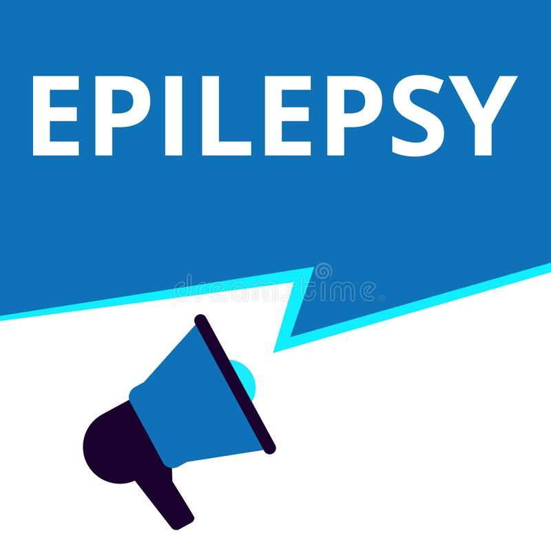 Épilepsie conceptuelle d'apparence d'écriture illustration de vecteur