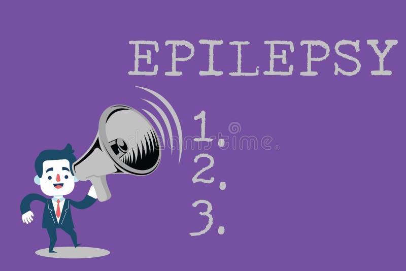 Épilepsie d'apparence de signe des textes Saisies imprévisibles les plus communes de désordre neurologique de photo conceptuelle  illustration libre de droits