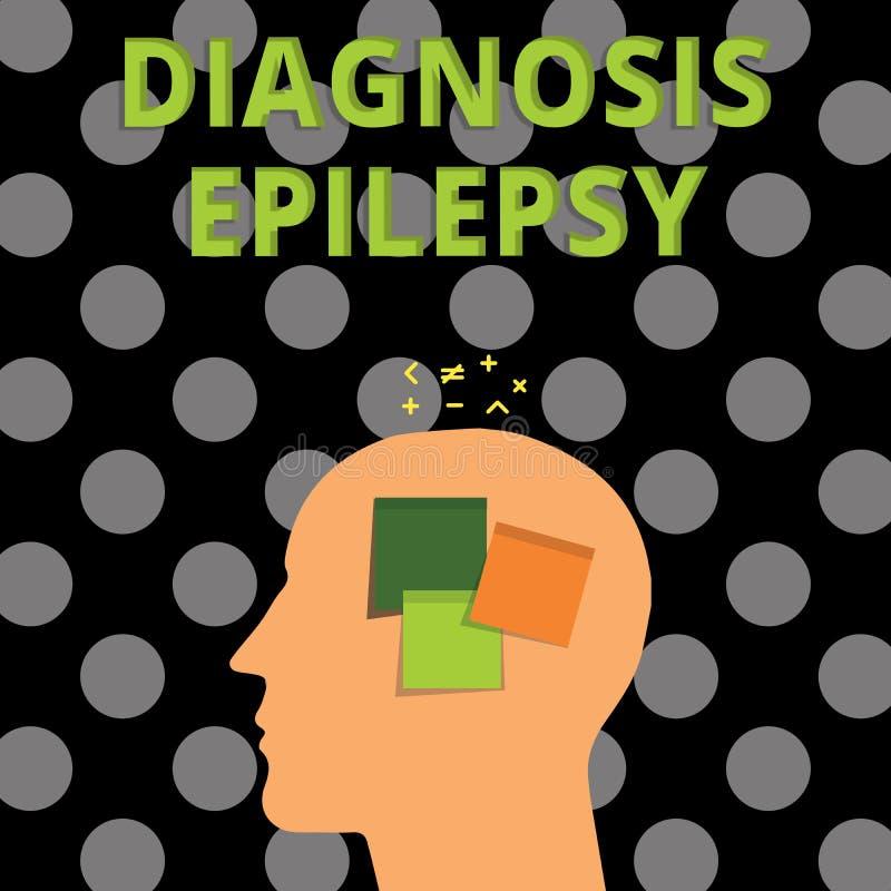 Épilepsie de diagnostic des textes d'écriture Concept signifiant le désordre dans lequel l'activité cérébrale devient anormale illustration stock